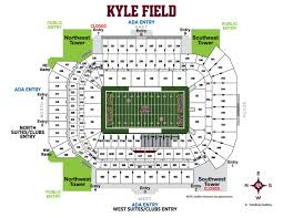 Kyle Field Stadium Map Kyle Field Seating Chart 2019