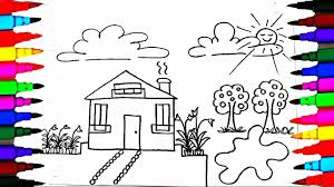 pictures to paint for kids. Wonderful Paint How To Draw And Paint Kids Playhouse  Learning Coloring Pages Videos For  Children Learn Colors Pictures For YouTube