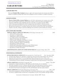 Medical Assistant Resume Objective Berathen Com
