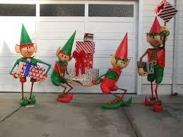 picture of santa s elves yard display
