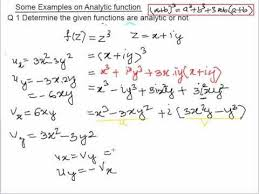 Examples On Analytic Function Youtube