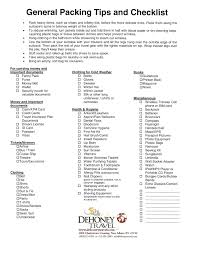 Vacation Checklist Packing Tips Checklist Dehoney Travel
