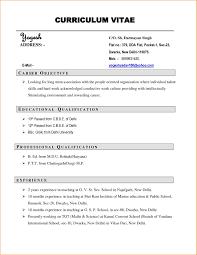 Curriculum Vitae Resume Format Free Downloads Curriculum Vitae Free