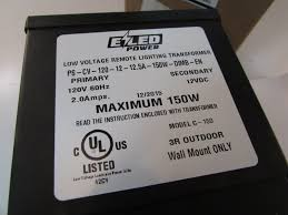 Bk Lighting Tr150 Ezled Ps Cv 120 12 12 5a 150w Dimb En Low Voltage Remote Lighting Transformer