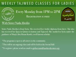 sisters column tawheed center of farmington hills weekly ladies tajweed class every monday 12 pm