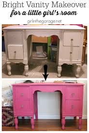 bright pink vanity makeover before after pinterest