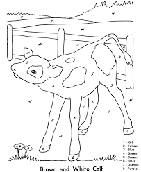 Small Picture Color by Number Coloring Page Follow the color numbers to color