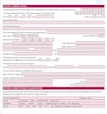 Business Credit Application Template Free 15 College Application ...