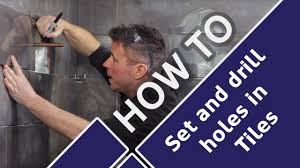 how to cut tiles around pipes and drill holes in bathrooms toilets tile mountains you
