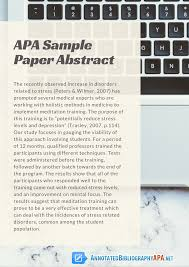 Errors In Apa Sample Paper Abstract