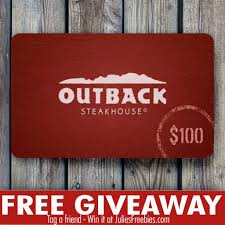 outback steakhouse gift card giveaway