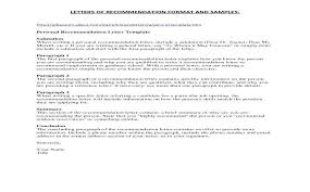 Sample Recommendation Letter For Job Sample Recommendation Letter For Employee Co Of Job From