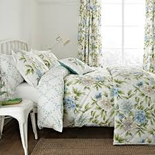 ... Sanderson Ella Aqua Blue Floral Bedding At Bedeck Image On Amazing Toile  For Options Main Bed ...