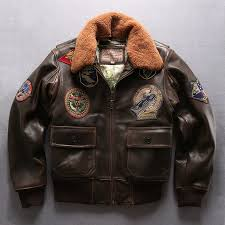 avirex fly air force flight jackets motorcycle genuine leather jacket men cow leather coat fur collar er jacket