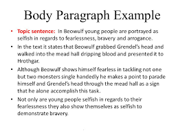 essay prompt compare and contrast the portrayals of beowulf as a  7 body paragraph example topic sentence in beowulf