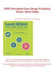 Tracy Fullerton Game Design Workshop Pdf Pdf Download Game Design Workshop Ebook Read Online