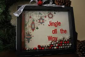 How To Decorate Shadow Boxes Jingle All The Way Holiday Shadowbox Decoration 13