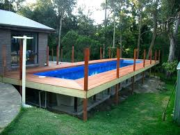 square above ground pool with deck. Square Above Ground Pool Pools With Decks In Basement . Deck O