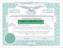 015 Template Ideas Corporate Stock Certificates Free New