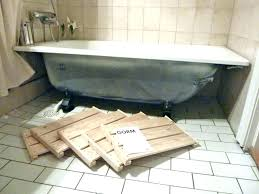 how to install a bathtub in a basement how to install a bathtub drain replacing bathtub