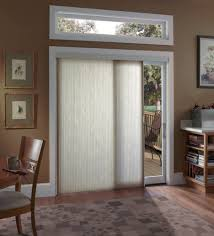 light brown accordion blind for glass patio door