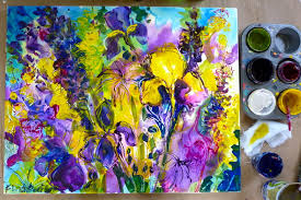p11000821 step by acrylic painting the yellow surprise home design 4