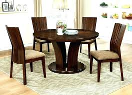 round glass dining table with oak legs modern dinette sets dining tables wood round dark oak