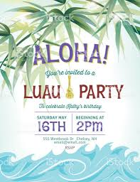 pool party invitation template palm trees and waves stock pool party invitation template palm trees and waves royalty stock vector art