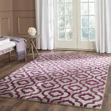 porcello light grey purple 4 ft x 6 ft area rug