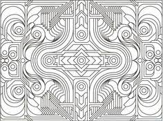 Small Picture Printable Geometric Pattern Coloring Pages for Adults animal