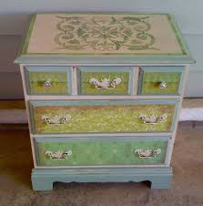 painting designs on furniture. Interactive Pictures For Stencils Painting Furniture : Casual Bedroom Decoration With Light Green Ombre Designs On D