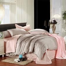 pink and grey duvet cover bedding set king size queen luxury double bed in a bag sheet linen quilt doona bedsheet bedroom tencel bedlinens extra long twin