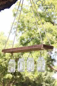 mason jar lights outdoor mason jar chandelier diy ideas with mason jars for outdoor