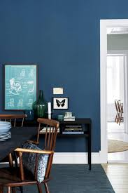 against the background of blue wall decor wall color and furniture for special attention murals in contrast with the black color is good but also