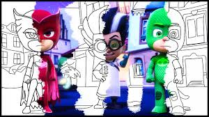 Small Picture Coloring Book Pj Masks Coloring Pages For Kids Videos Episode