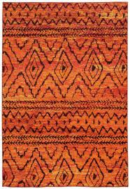 oriental weavers nomad 8122o orange red area rug