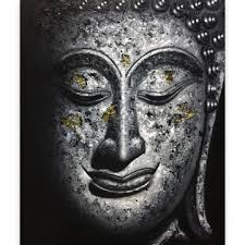 amazing black white buddha painting