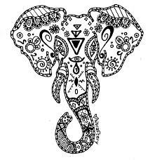 Abstract Elephant Coloring Pages For Adults 6836 Abstract Elephant
