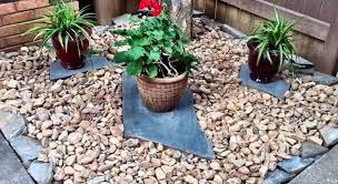 simple diy rock garden landscape feature