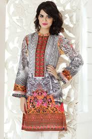 Gul Ahmed Design 2017 Gul Ahmed Digital Printed Summer Lawn Dresses Kurtis