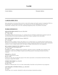 Sales Resume Objective Templates Cv Examples For Phenomenal