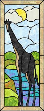 giraffe stained glass quilt pattern pes 107