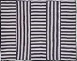 N Navy Stripe Outdoor Rug 8x10