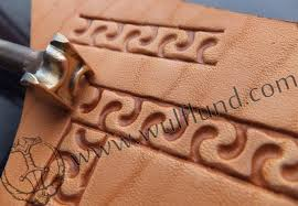 meandre leather stamp
