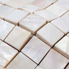 shell tiles kitchen backsplash tile white square mother of pearl mosaic bathroom wall interior decor