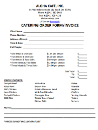 Catering Invoice Sample Mesmerizing Catering Invoice Template 44 Catering Invoice Templates In 44