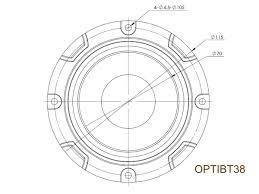 Lanzar optibt38 para głośniki wysokotonowe 200 watt rms 4 ohm
