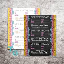 Personalized Gift Certificates Template Free Stunning Printable Gift Certificate Template Custom Gift Certificates Etsy