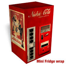 Nuka Cola Vending Machine Fascinating NUKA COLA FALLOUT Vending Machine MINI FRIDGE Skin Rm Wraps