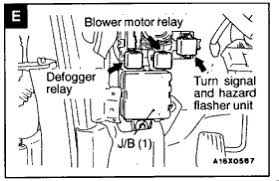 galant the hazard relay under dashbut turn signals fuse panel graphic